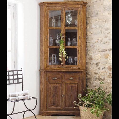 Mueble esquinero de madera maciza de palo rosa An. 90 cm | HOUSSES ...