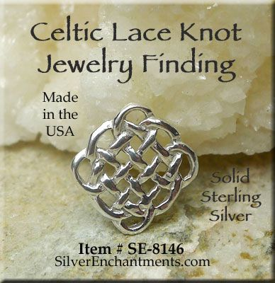 Sterling silver celtic lace knot chandelier findings or jewelry sterling silver celtic lace knot chandelier findings or jewelry links 1 aloadofball Choice Image