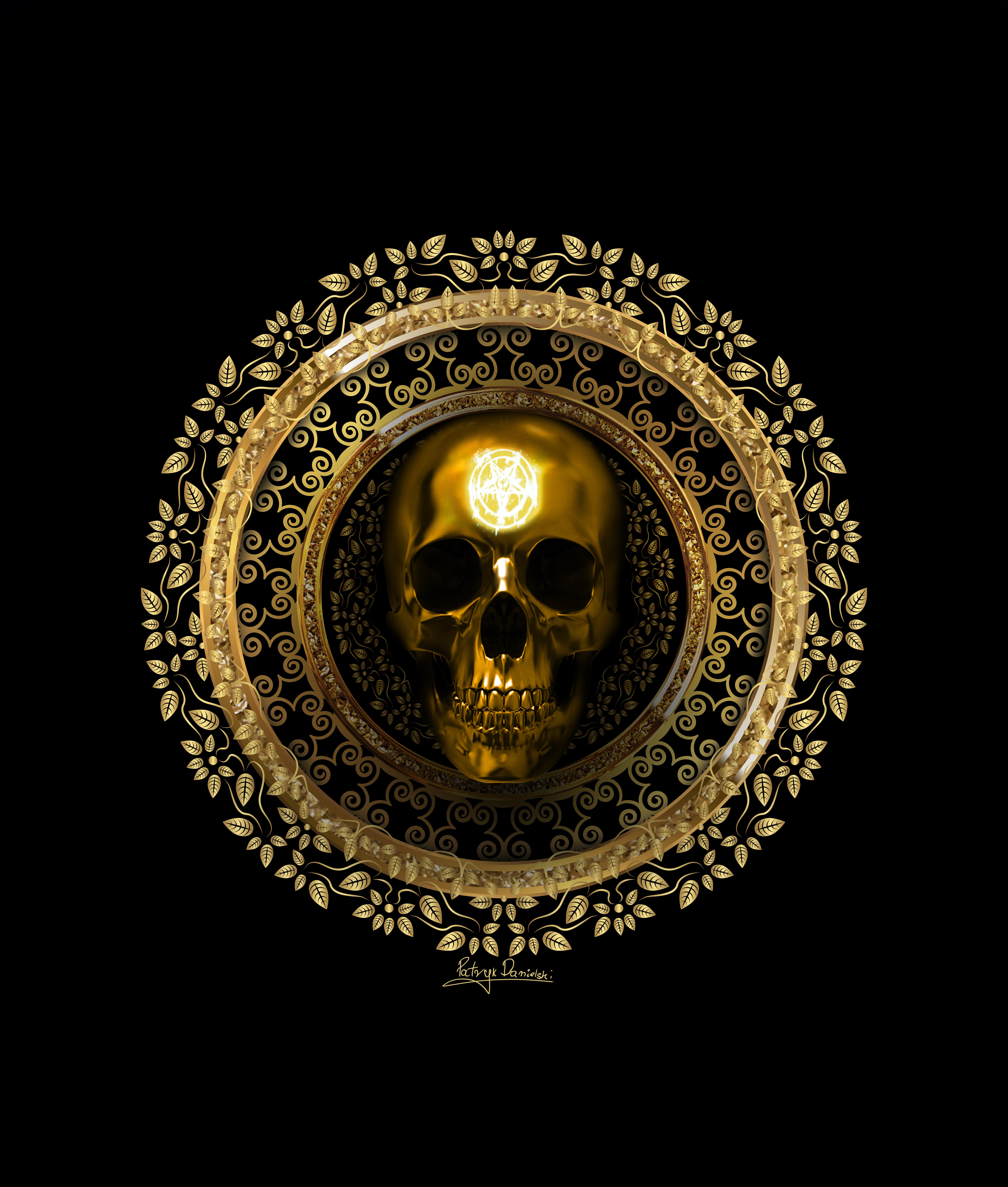 Gold Skull Golden Skull Gold Skull Skull Sticker Skull