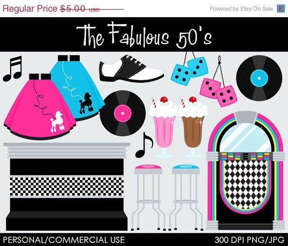50 Fabulous Graphic: The Fabulous 50's Clipart