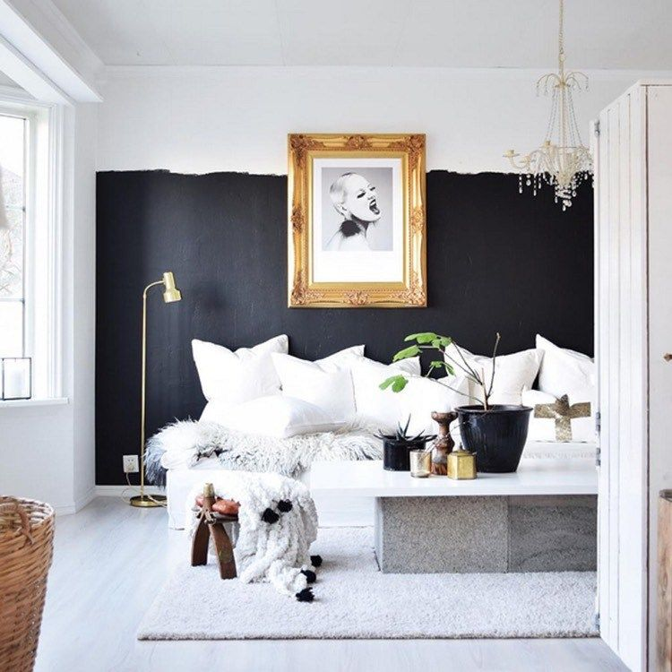 Idée Déco Peinture Intérieur Maison   On Ose Le Duo Intemporel Noir Blanc