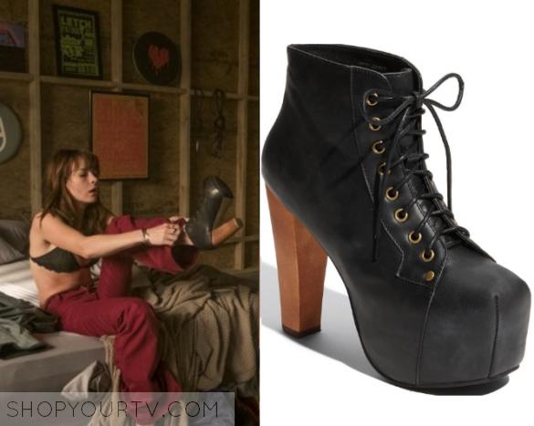 79e1cf493616 GirlBoss  Season 1 Episode 2 Sophia s Black Lace Up Heels