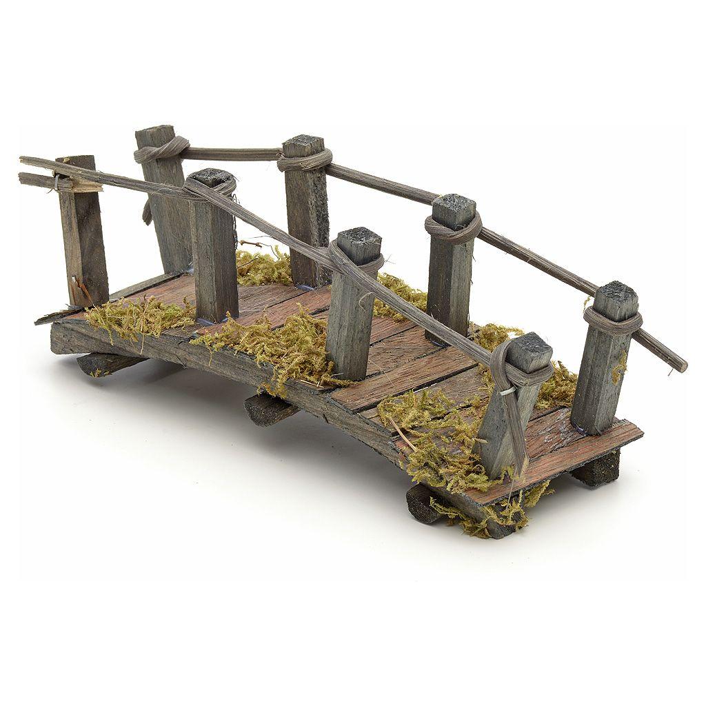 Pont en bois en miniature pour crèche 17,5x6x7 cm   vente en ligne