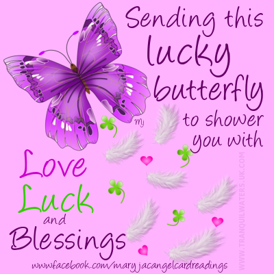 Lucky Horseshoe - Lucky Butterfly - Wishing Fairy - Good luck Angel - Luck - Wishes - Image quotes - Sayings - Good luck