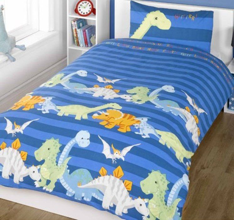 A Super Dinosaur Themed Duvet Set Available From Everything Beautiful Single With Matching Pillow Case Measures By And It Is