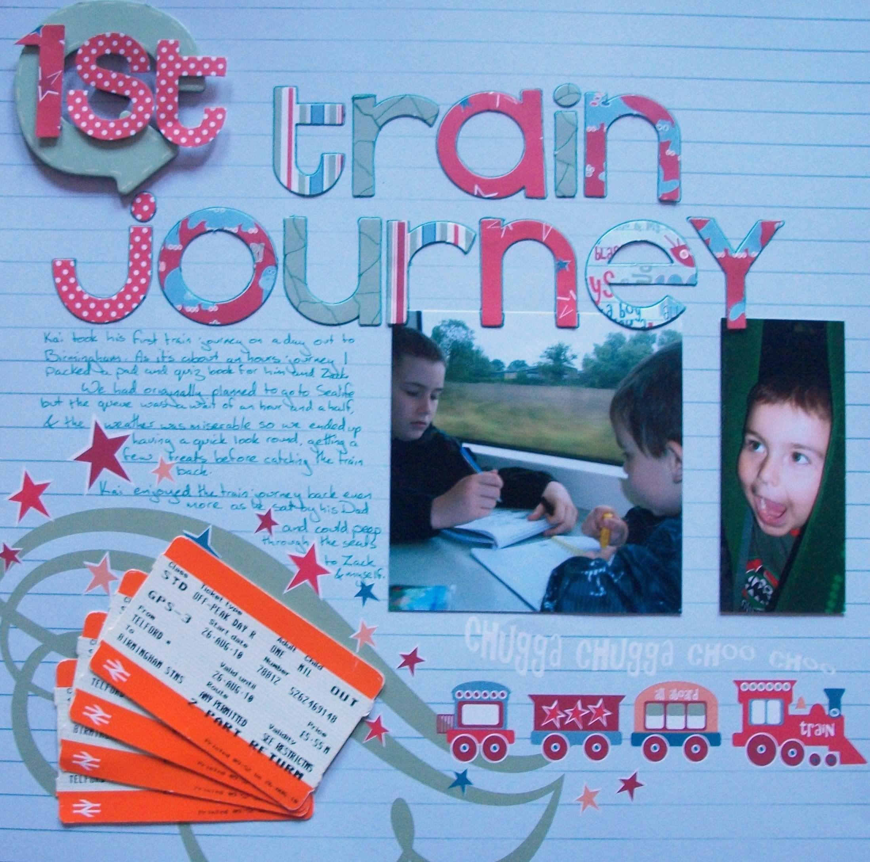 Journey scrapbook ideas - 1st Train Journey Scrapbook Page