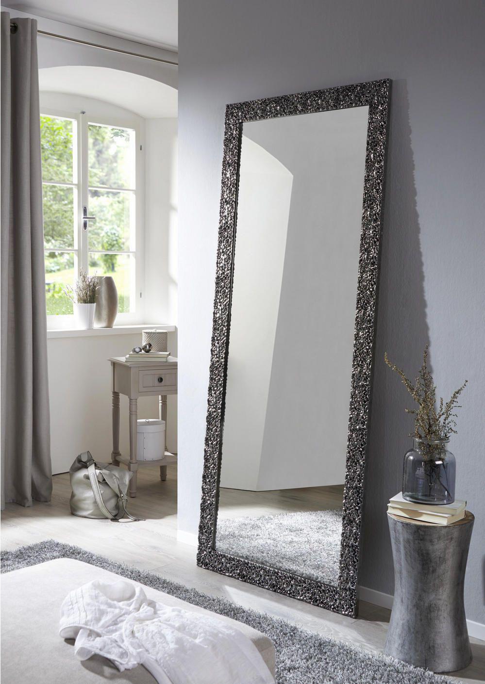 Wandspiegel, Standspiegel, Spiegel mit Metallrahmen, Deko Spiegel