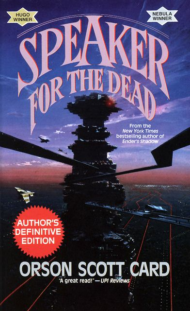 Speaker for the Dead by Orson Scott Card - The follow up to my fav book Enders Game.  Completely different story and almost as good.  Start with EG but this one won't disappoint.