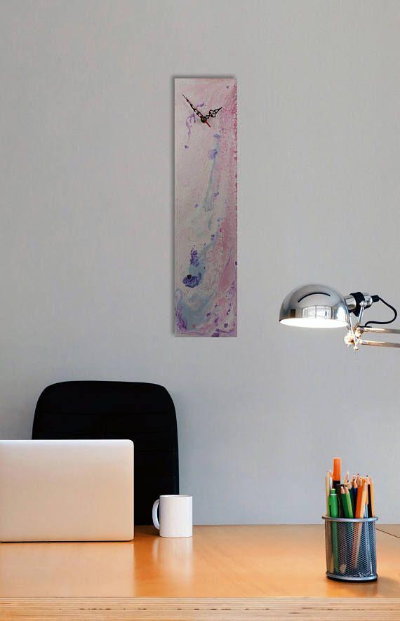 Designer Wall clock Pink Wall Clock Pastel Wall Art Pink Modern