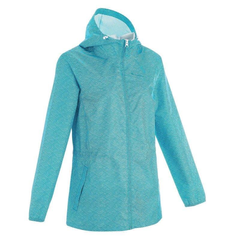 0334ca577d2 GROUPE 3 Randonnée - Coupe pluie Raincut zip bleu F QUECHUA - Vêtements