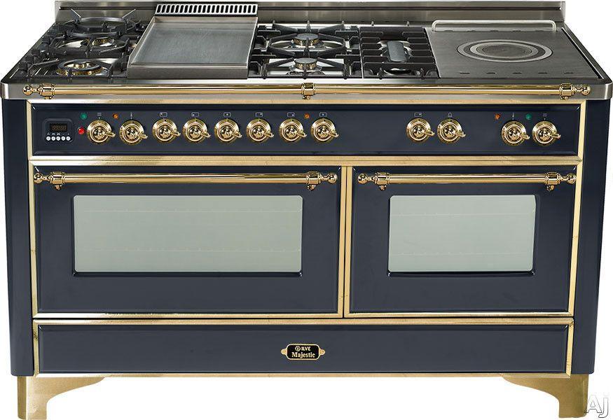 Ilve Majestic Collection Um150fsdmp Dual Fuel Ranges Warming Drawer Gas Range Double Oven