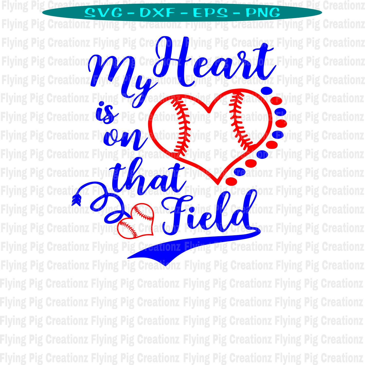 Download My Heart is on that Field svg, Baseball svg, Baseball ...