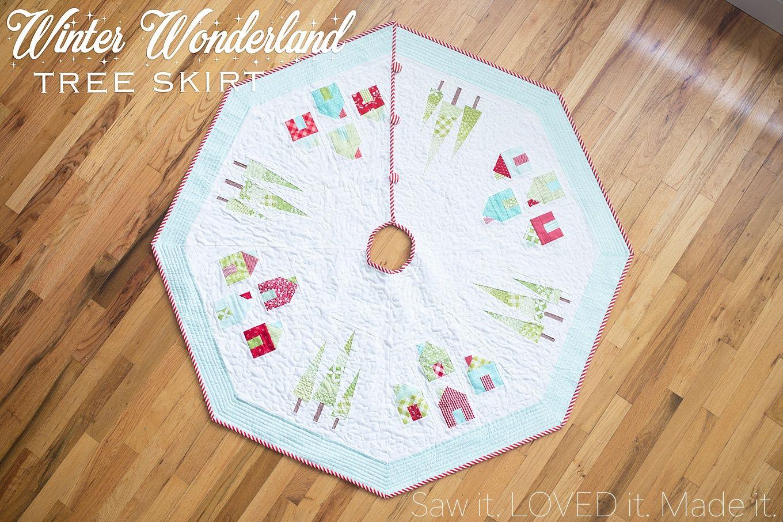 Winter Wonderland Christmas Tree Skirt | Saw it. LOVED IT. Made it ...