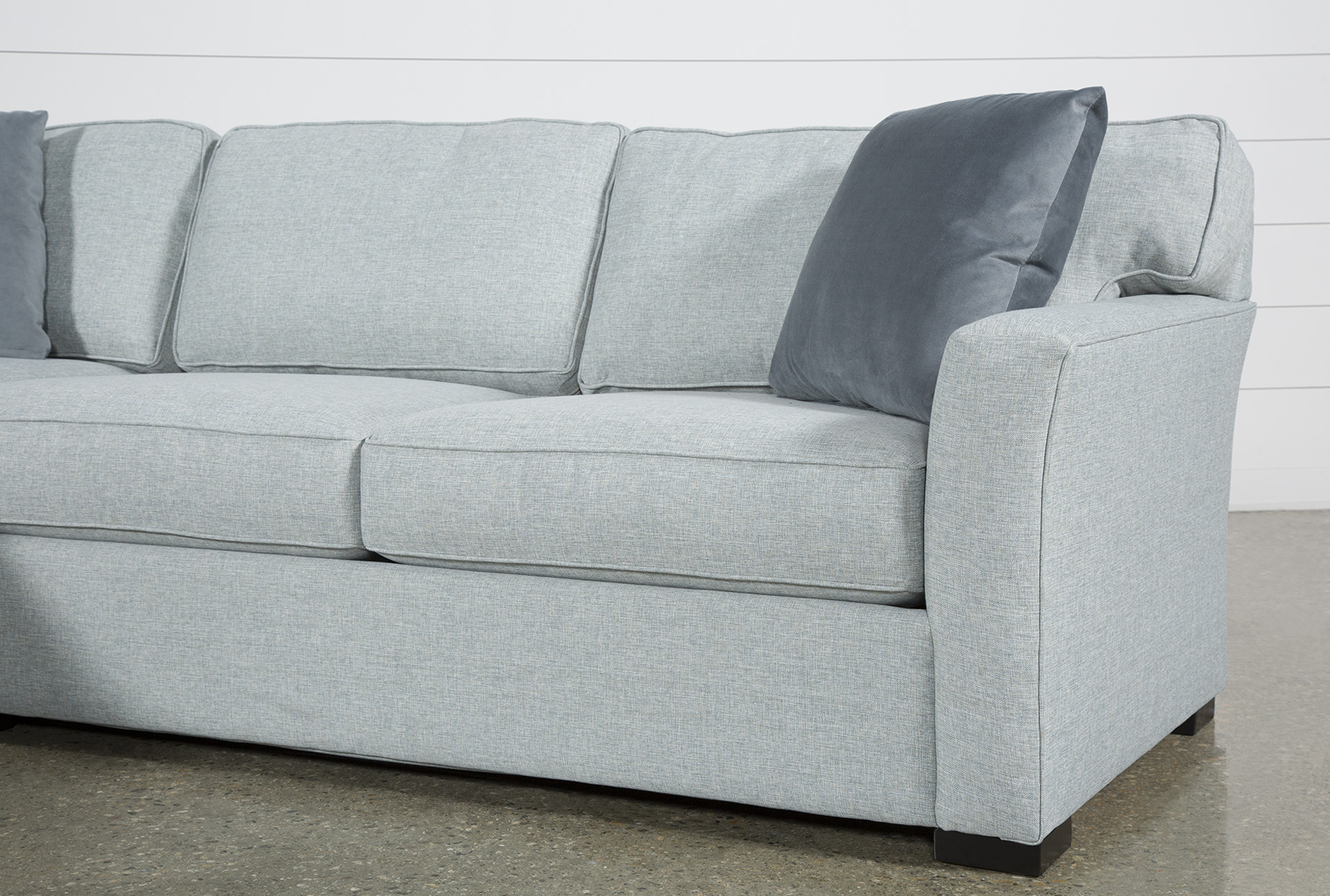 Aspen Tranquil Foam 2 Piece Sectional Sofa with Left Arm
