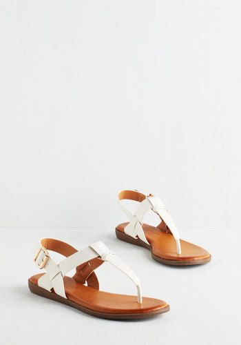 Elegant Footwear We've Yacht a Situation Sandal in White
