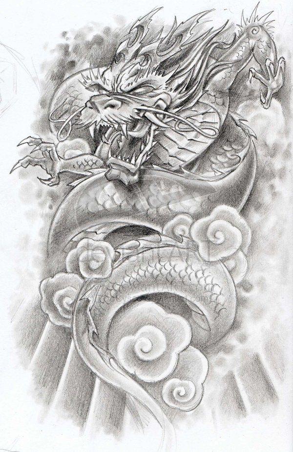 dragon-tattoo-. | Ideas | Pinterest | Tatuajes de dragón, Dragones y ...