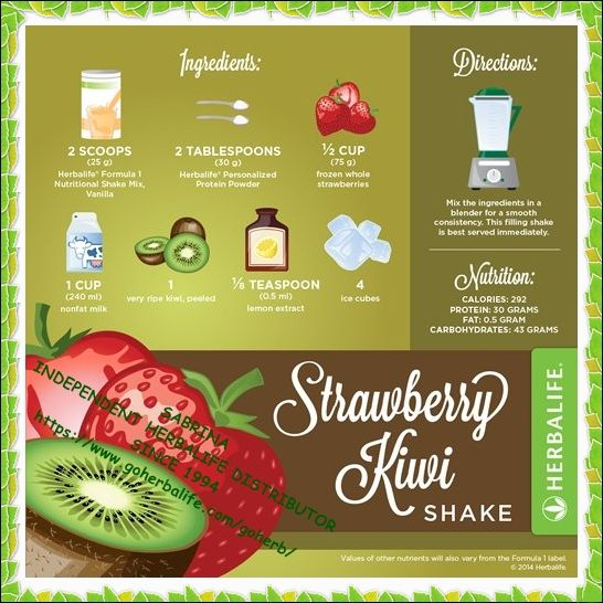 Enjoy Your Herbalife Formula 1 Protein Healthy Meal Shake Try A Different Recipe Every Day High In Nutrie Herbalife Recipes Herbalife Herbalife Shake Recipes