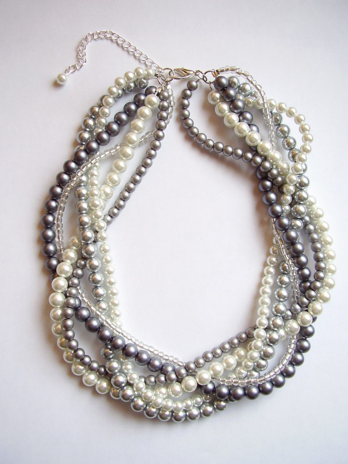 how to make a twisted pearl necklace