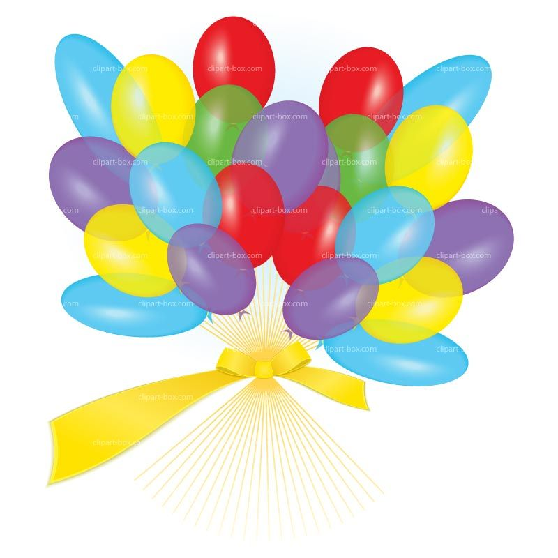 CLIPART BALLOONS WITH RIBBON   Royalty free vector design