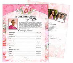 Printable Funeral Memorial Flyers Samples: One 00mmPage Funeral ...