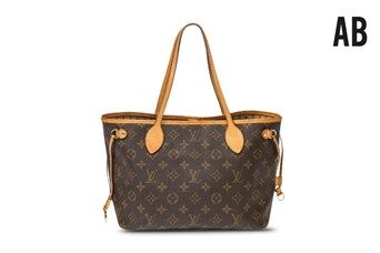 Bolso cabás Neverfull Louis Vuitton Marrón