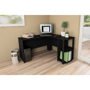 Gentil L Shaped Desk With Side Storage, Multiple Finishes