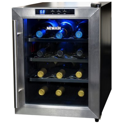 Newair 12 Bottle Single Zone Freestanding Wine Cooler Thermoelectric Wine Cooler Wine Cooler Wine Refrigerator