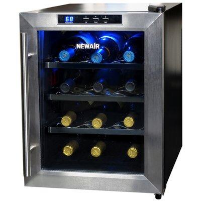 Newair 12 Bottle Single Zone Freestanding Wine Cooler Thermoelectric Wine Cooler Wine Cooler Wine Refrigerator
