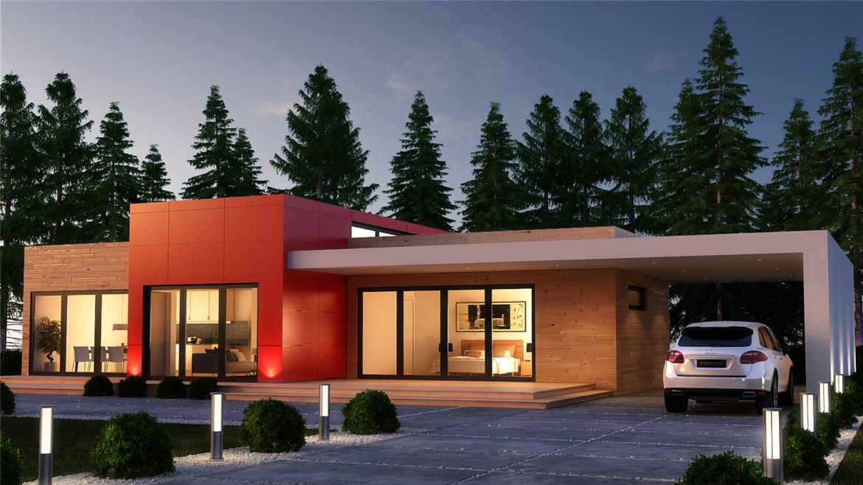 Paris donacasa 180m2 hormig n celular con trasdosado tejado plano houses pinterest - Mejores casas prefabricadas hormigon ...