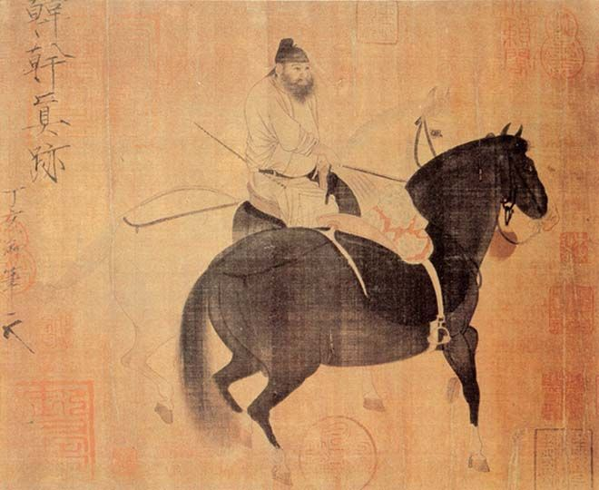 Resultado de imagem para Daoist power: Herding Horses by Han Gan, Tang dynasty, China.