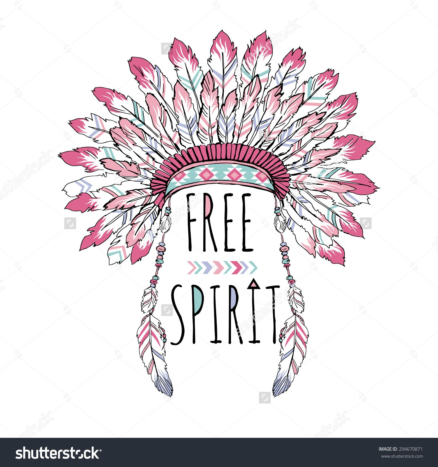 Hand lettered all caps thinking of drawing or painting my name native american poster t shirt design free spirit indian war bonnet lettering buy this stock vector on shutterstock find other images buycottarizona Choice Image