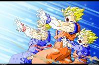 Saiyan Family Kamehameha X10000000 Gohan And Goten Dragon Ball Z Dragon Ball