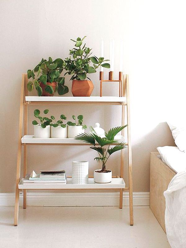 Library Nordic shaped design ideal for small spaces and multipurpose ladder.