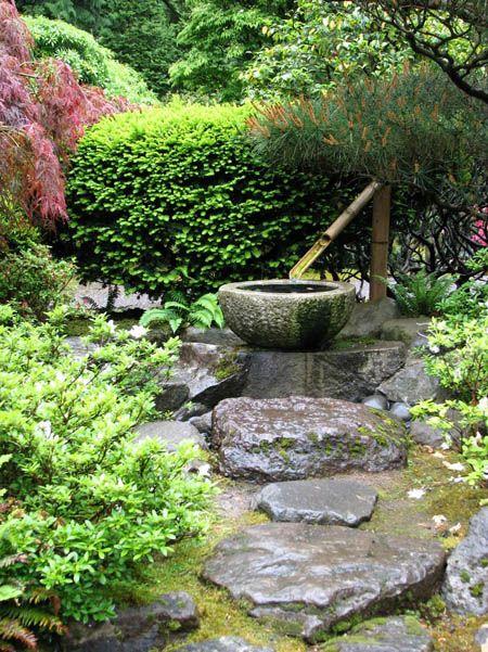 fontaines de jardin japonais