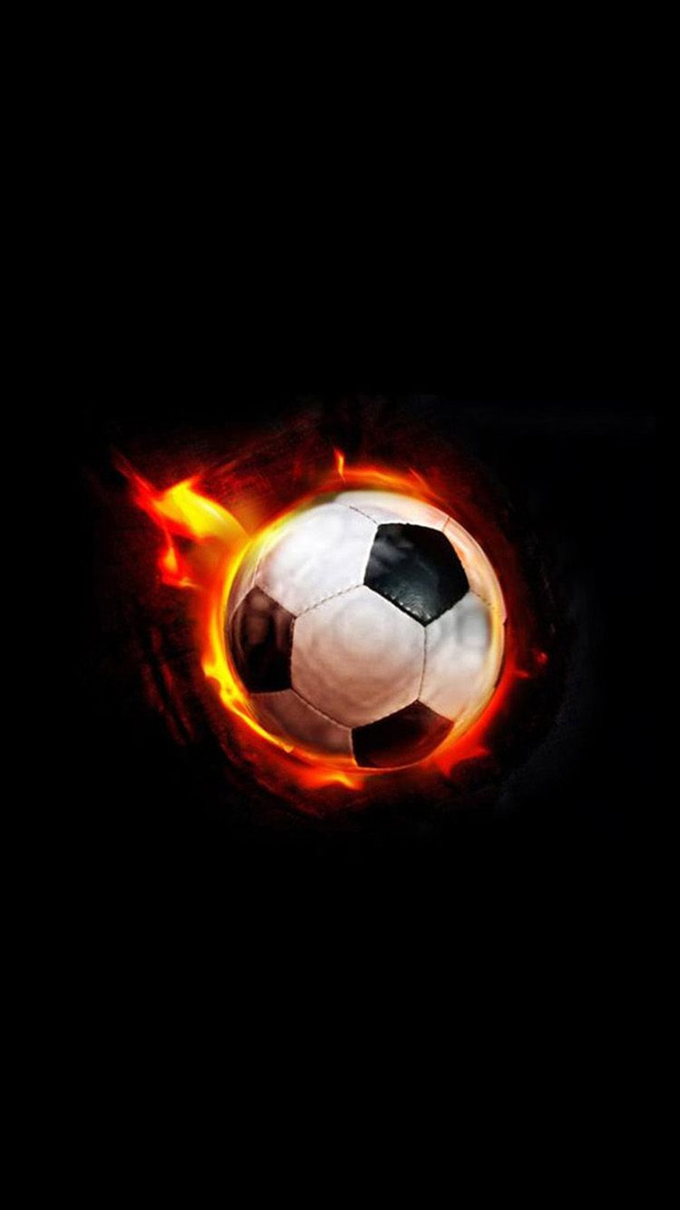 Fire Football Hd Free Wallpapers For Iphone Soccer Ball Football Ball Soccer