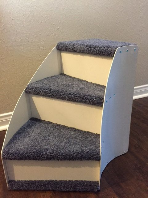 Pet Steps 3 Step Curved And Carpeted Pet Steps Pet Steps For Bed Pet Ramp