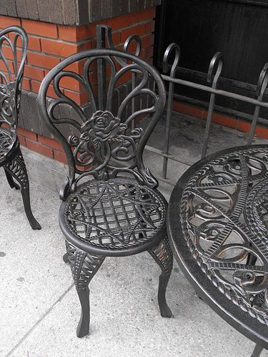 Restore Shine To Wrought Iron Furniture Organization Cleaning