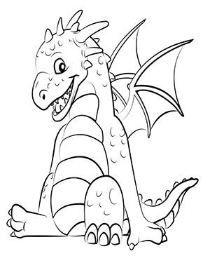 Ausmalbild Mit Sussem Drachen Baby Ausmalen Drachen Ausmalbild