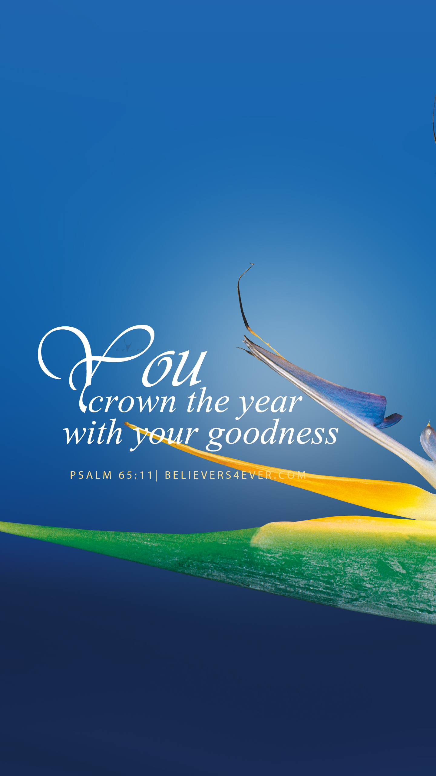 You crown the year  Christian facebook cover, Biblical verses