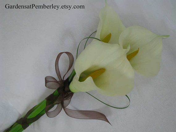 Calla Lily Real Touch Silk Arm Bridal by GardensatPemberley