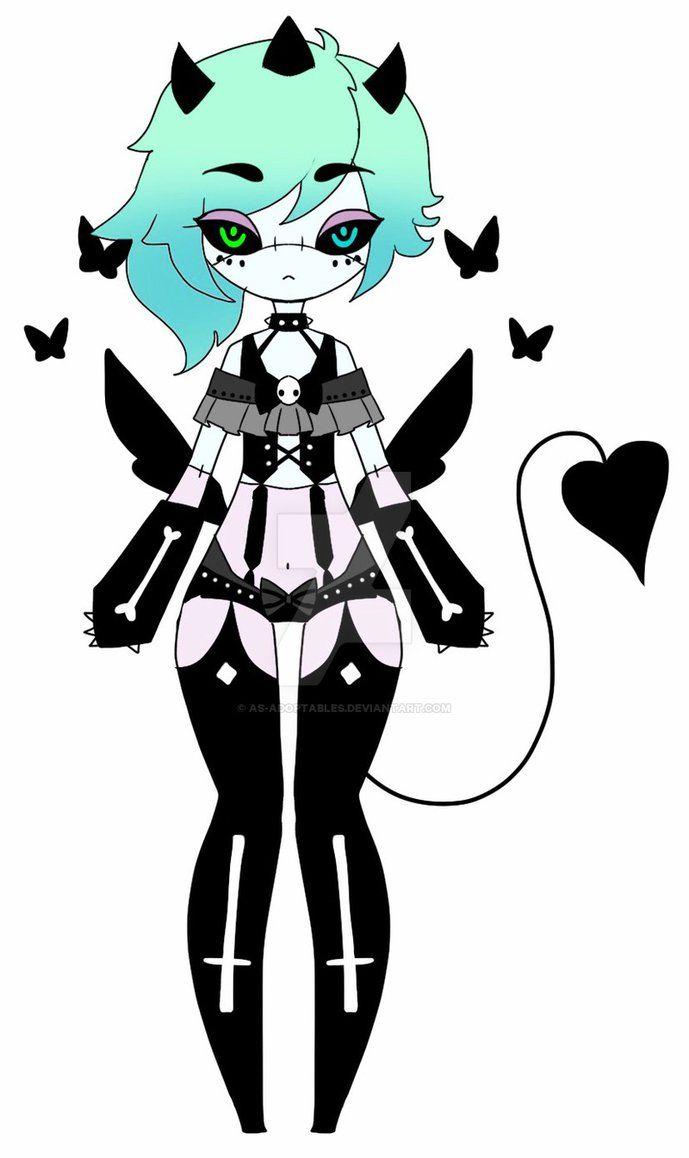 Demon girl adoptable CLOSED by AS-Adoptables.deviantart.com on @DeviantArt