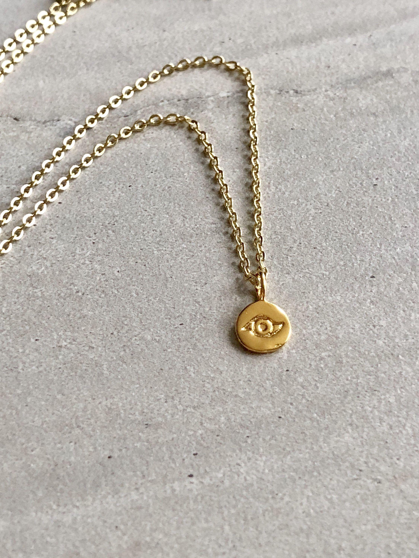 Photo of Evil Eye Necklace / 14K Gold Filled / Evil Eye Charm / Dainty Necklace / Evil Eye Pendant / Evil Eye / Evil Eye Jewelry / Protection Necklace