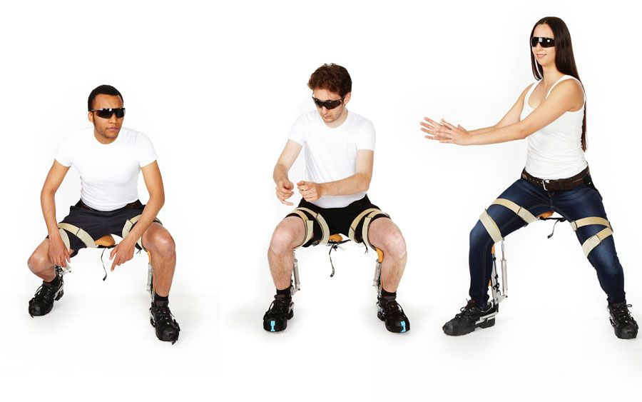 This Pair Of Bionic Pants Is A Chair That You Wear Wearable Wearable Device Chair