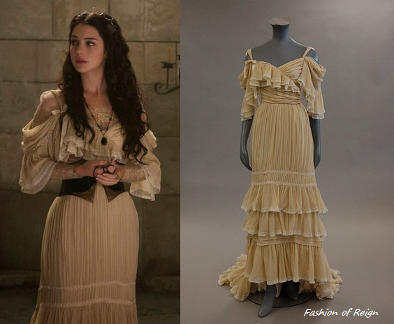 In the fourth and sixth episodes Mary wears a Jean Patou Vintage (circa 1976) Couture Evening Dress. Worn with Vintage Deco crown and Gillian Steinhardt Signet Ring.