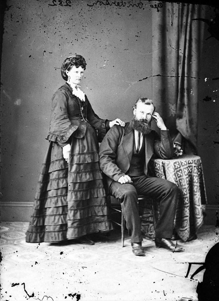 81ce8803709de Pregnant woman Mrs Geo Anderson and her husband Mr Geo Anderson c1870-1875