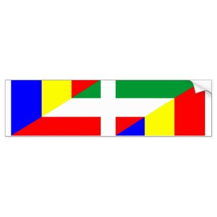 Romania hungary flag country half symbol bumper sticker craft supplies diy custom design supply special