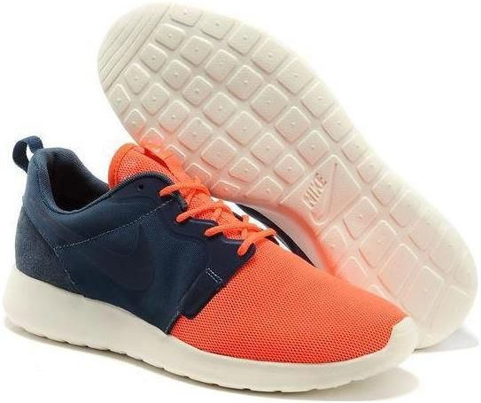 Nike Roshe Run HYP QS Mens Light Weight Mesh Organge Air Force Blue Low  Running Shoes