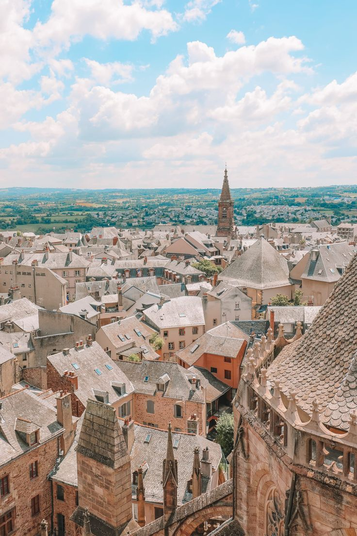 The Pretty Little City Of Rodez In The South Of France