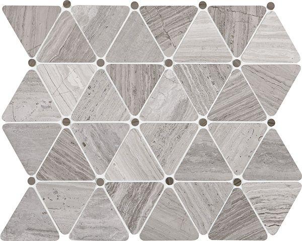 Stone Mosaics Chenille White 2 3 4 X 2 1 2 Triangle Mosaic Polished L191 Daltile Stone Mosaic Paving Pattern