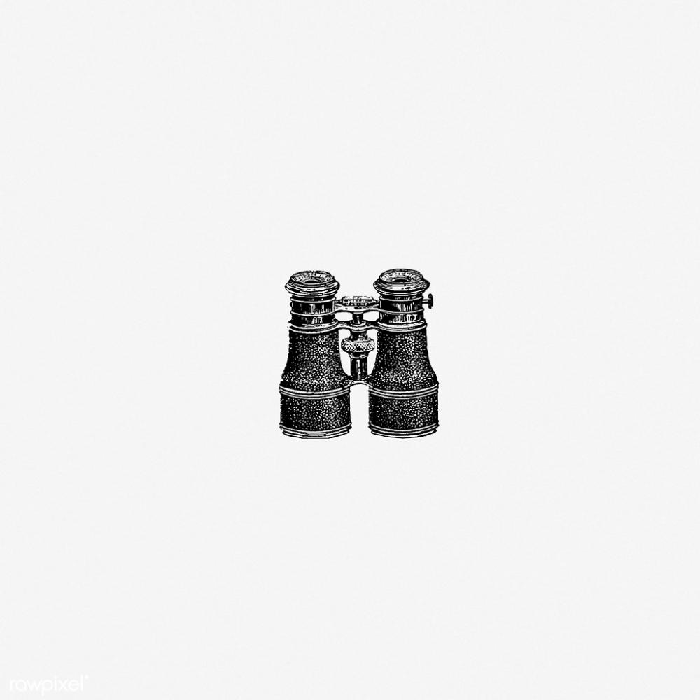 Binoculars in vintage style Vintage illustration